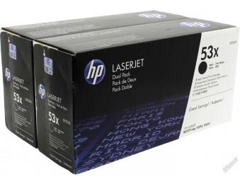 Картридж HP LJ P2015/2014/M2727 (O) Q7553XD, 7K (двойная упаковка)