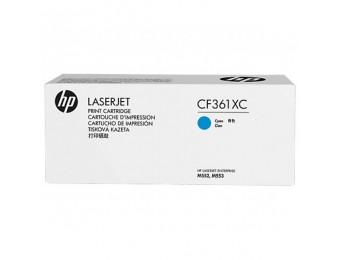 Тонер-картриджи HP CF361XC голубой, ресурс- 9500, для CLJ M552/M553