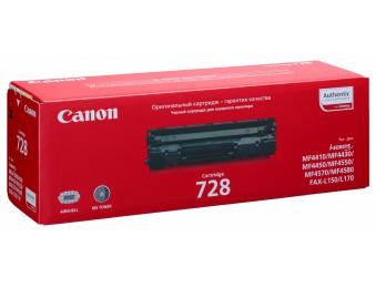 Картридж Canon 728 черный, для MF4410/4430/4450/4550/4570/4580/4580dn/FAX-L150/170, 2.1k