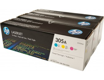 Картридж HP CLJ Pro 300Color M351/Pro400ColorM451(O) CF370AM, C/M/Y, 305A (три картриджа)