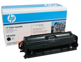 Картридж HP CE260A черный (black) 8500 стр