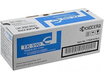 Картридж Kyocera FS-C2026MFP/C2126MFP/C5250/ECOSYS M6026CDN/P6026CDN (O) TK-590C, C, 5K