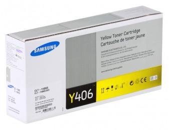 Картридж Samsung CLT-Y406S, для CLP- 360/365/365W/CLX-3300/CLX-3305 жёлтый, 1k